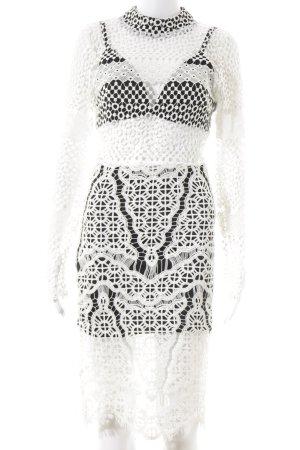 Sabo Skirt Abendkleid weiß-schwarz Beach-Look