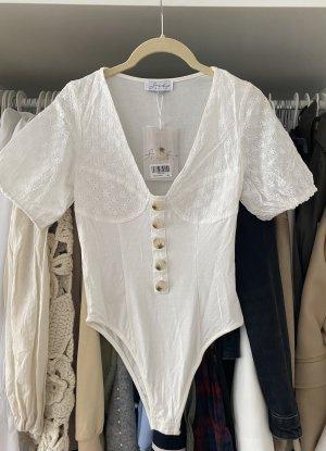 Sabo Skirt Top gorsetowy biały-kremowy