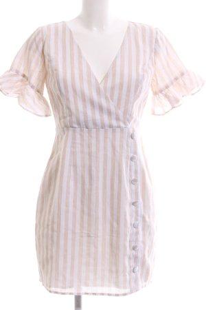 Sabo Skirt Etuikleid nude-weiß Streifenmuster Elegant