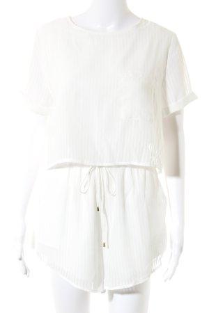 Sabo Skirt Jumpsuit weiß Streifenmuster Beach-Look