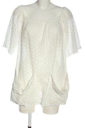 Sabo Skirt Short Sleeved Blouse white casual look