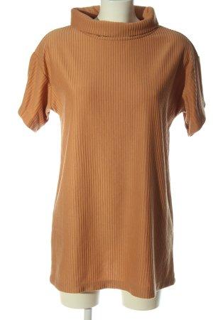 Sabo Skirt Short Sleeve Sweater light orange casual look