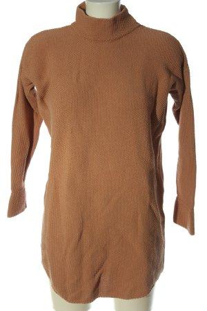 Sabo Skirt Turtleneck Sweater light orange casual look