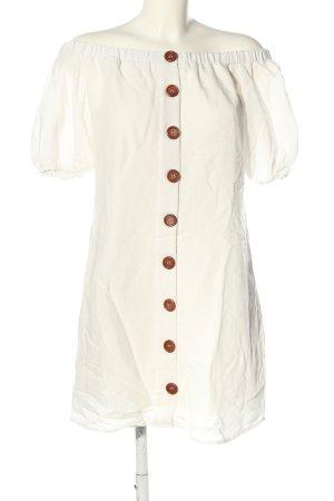 Sabo Skirt schulterfreies Kleid weiß Casual-Look