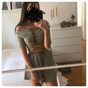 Sabo Skirt Set Co Ord Zweiteiler Zara Knit Strick Top Lounge