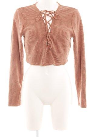 Sabo Skirt V-Ausschnitt-Pullover hellorange Casual-Look