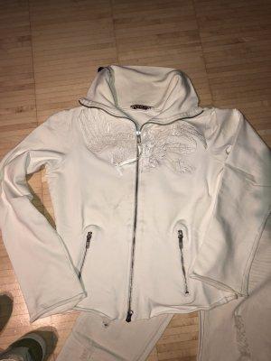 Sabotage Sweatshirtjacke weiß