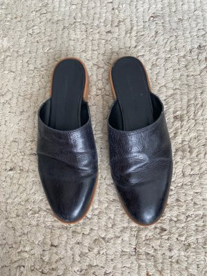 Zara Sabot noir-marron clair cuir