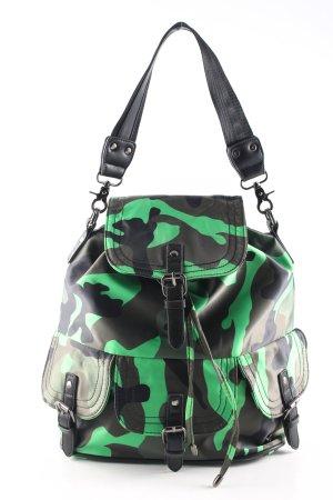 Saccess Beuteltasche schwarz-grün Camouflagemuster Casual-Look