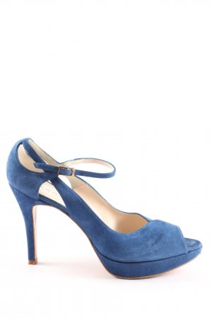 Sacha london Peeptoe Pumps blau Business-Look