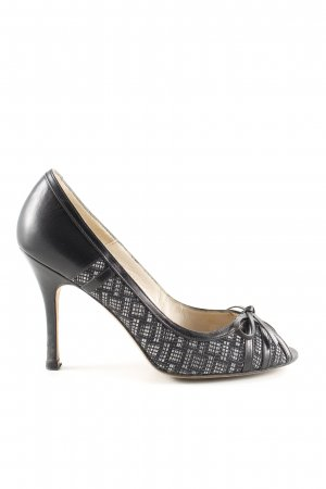Sacha london Peeptoe Pumps schwarz-hellgrau Allover-Druck Casual-Look