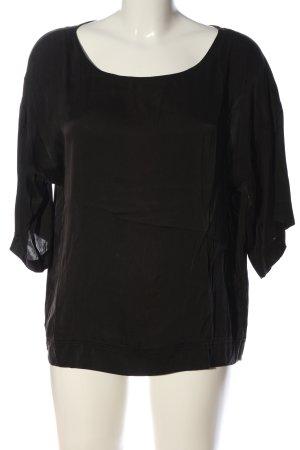 Sack's Kurzarm-Bluse schwarz Casual-Look