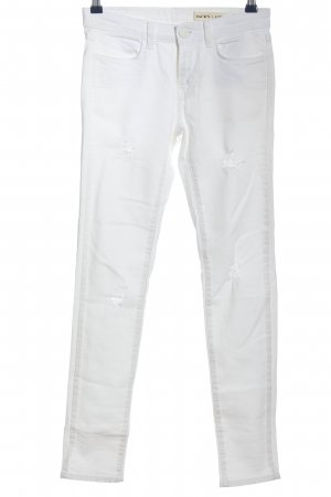 Sack's Pantalone a sigaretta bianco stile casual