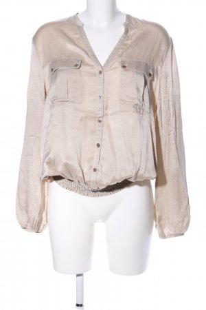 Sack's Silk Blouse natural white casual look