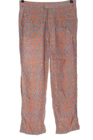 Sack's Jersey Pants light orange-blue allover print classic style