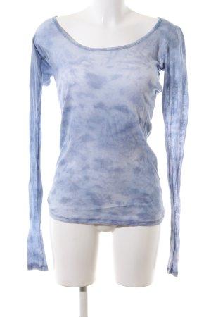 Sack's Suéter blanco-azul degradado de color look casual