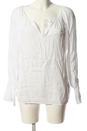 Sack's V-Neck Shirt white business style