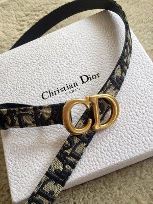 Dior Cintura in tela blu acciaio