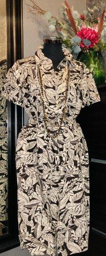 Debenhams Shirt Dress cream-black brown