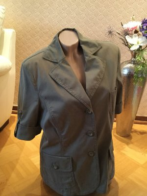Walbusch Safari Jacket grey brown cotton