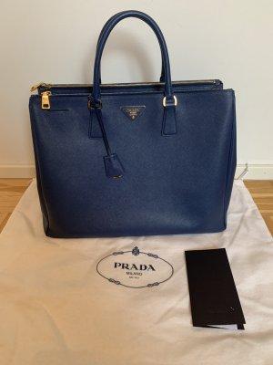 Saffiano Lux Tote von Prada, Farbe: Bluette