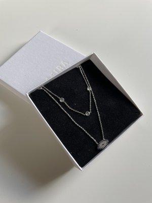 SAFIRA Silver Chain silver-colored-dark blue