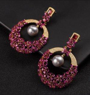 Pessina-Jewelry Zilveren oorbellen veelkleurig