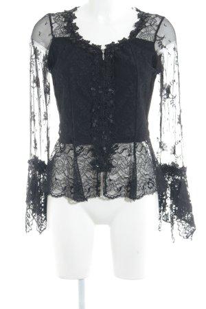 Sagaie Spitzenbluse schwarz Elegant
