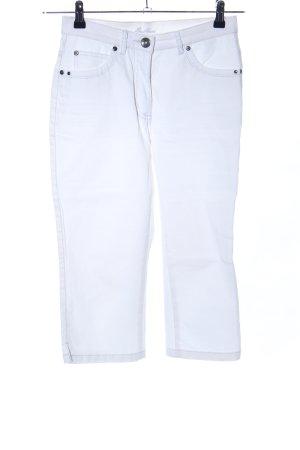 SaHara Pantalone a 3/4 bianco stile casual