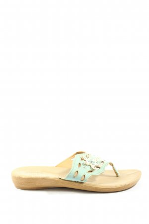 SaHara Dianette Sandals natural white-turquoise casual look