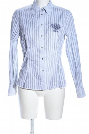 SaHara Langarmhemd blau Streifenmuster Business-Look