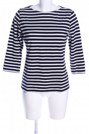 SaHara Longsleeve schwarz-weiß Streifenmuster Casual-Look