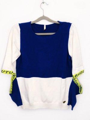 Sahoco Pullover Strickpullover Sweater Sweatshirt Größe L creme blau Neu 109,90€