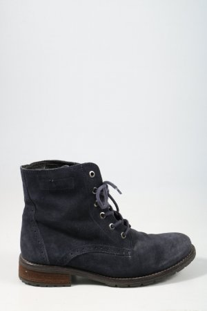 Sailer Lace-up Boots blue casual look