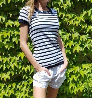 sailor pinstripe pinup maritimes T-Shirt gestreift matrose segeln
