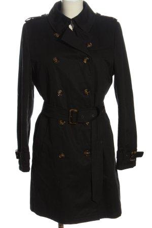 Saint Jacques bodenlanger Mantel schwarz Casual-Look