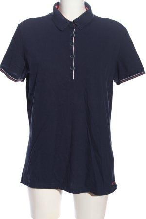 Saint James Polo-Shirt blau Casual-Look
