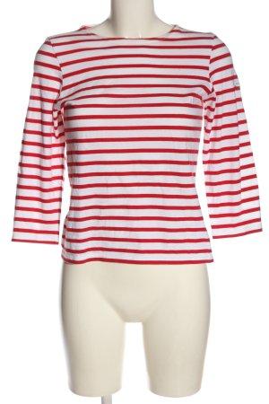 Saint James Stripe Shirt white-red striped pattern elegant