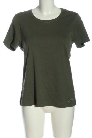 Saint James T-Shirt khaki Schriftzug gedruckt Casual-Look