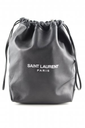Saint Laurent Pouch Bag black printed lettering casual look