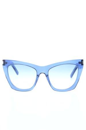 Saint Laurent Okulary motylki niebieski Elegancki