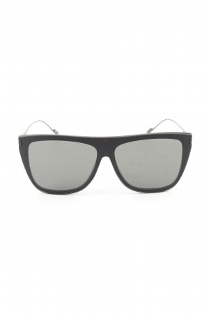 Saint Laurent eckige Sonnenbrille schwarz Business-Look