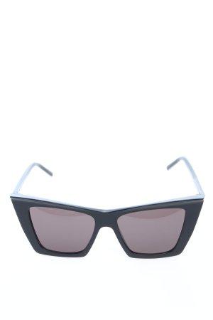 Saint Laurent Angular Shaped Sunglasses black casual look