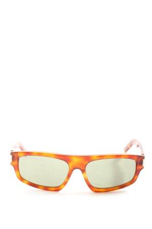 Saint Laurent Gafas de sol cuadradas naranja claro-marrón look casual