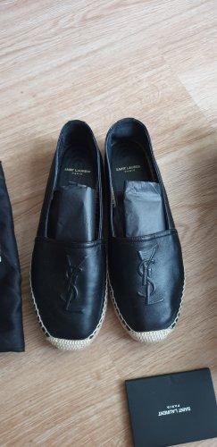 Saint Laurent Pantoffels zwart-zandig bruin