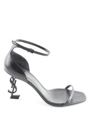 Saint Laurent High Heel Sandaletten schwarz Casual-Look