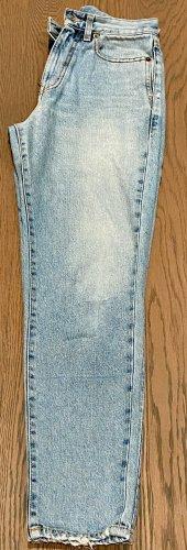 Saint Laurent High Waist Jeans light blue cotton