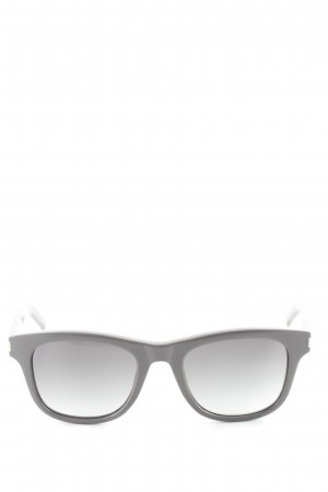Saint Laurent Square Glasses grey lilac-silver-colored casual look