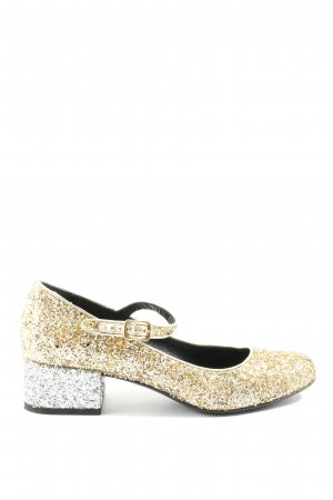 Saint Laurent Mary Jane Schoenen goud-zilver elegant