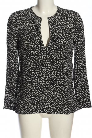 Saint Laurent Long Sleeve Blouse black-natural white allover print casual look